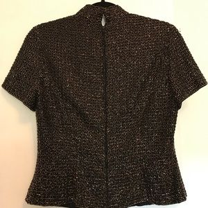 Oleg Cassini Tops - Vintage Oleg Cassini Beaded Mock Neck Top